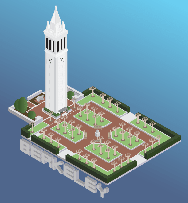 isometric campanile graphic design