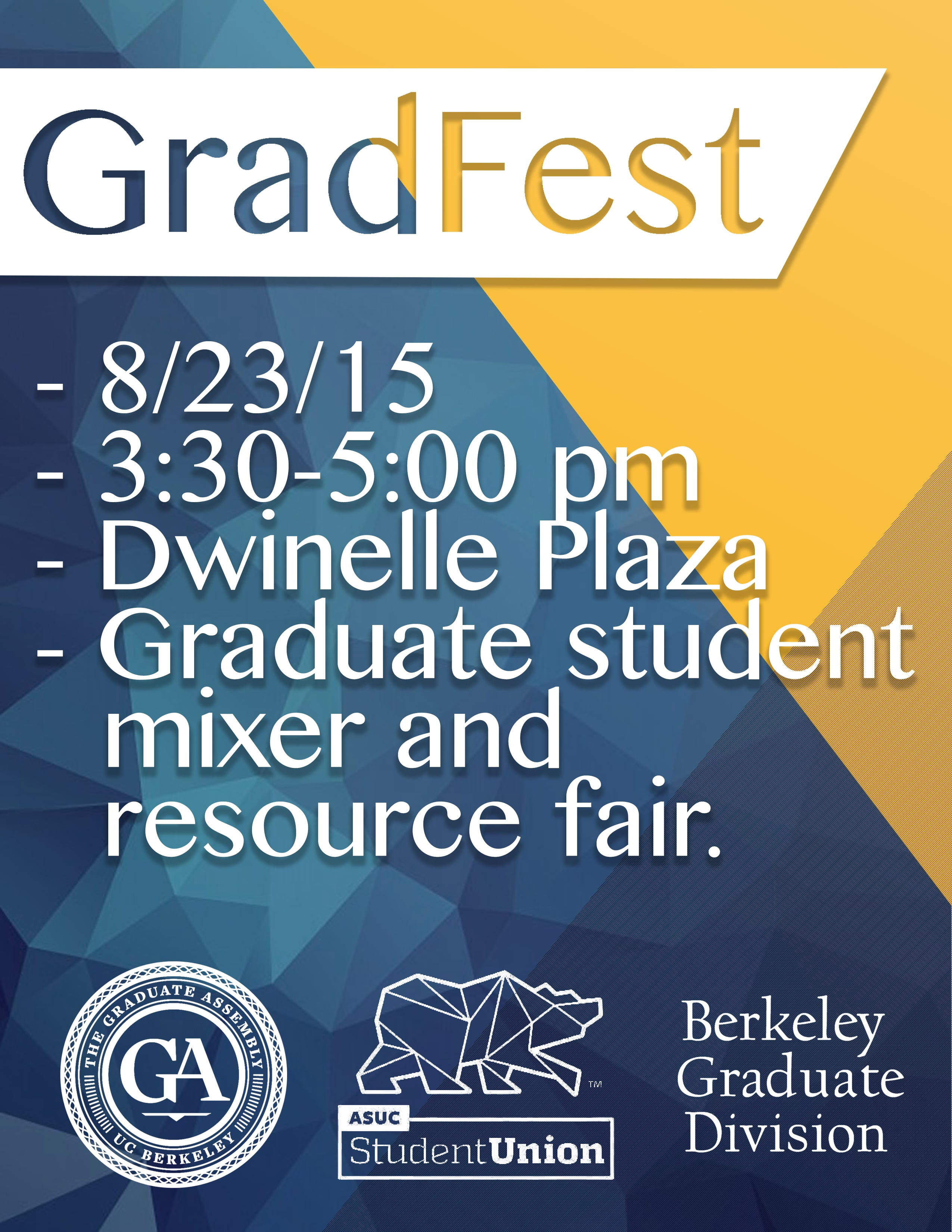 gradfest flyer graphic design